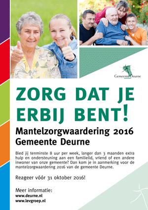 Mantelzorgwaardering gemeente Deurne